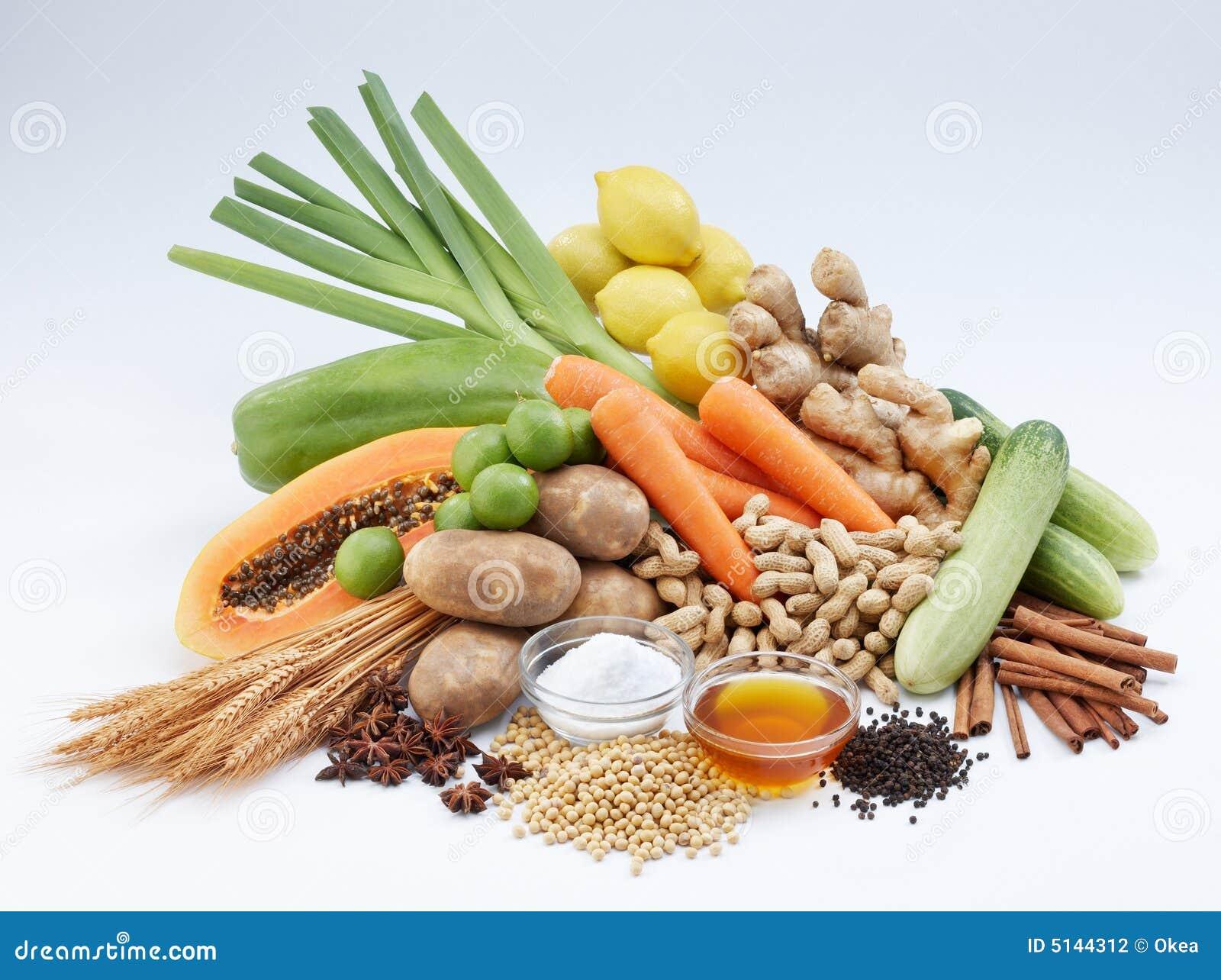 Vegetal e frutas