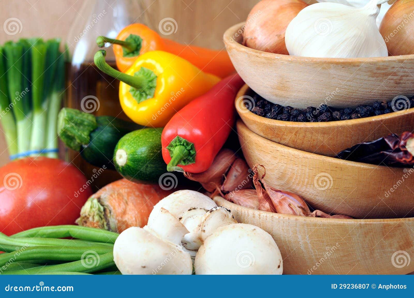 Download Vegetal e tempero imagem de stock. Imagem de alimento - 29236807