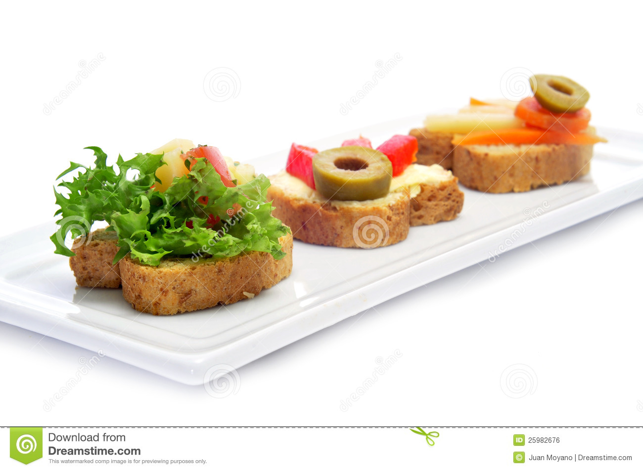 Vegetarian canapes royalty free stock image image 25982676 for Vegetarian canape