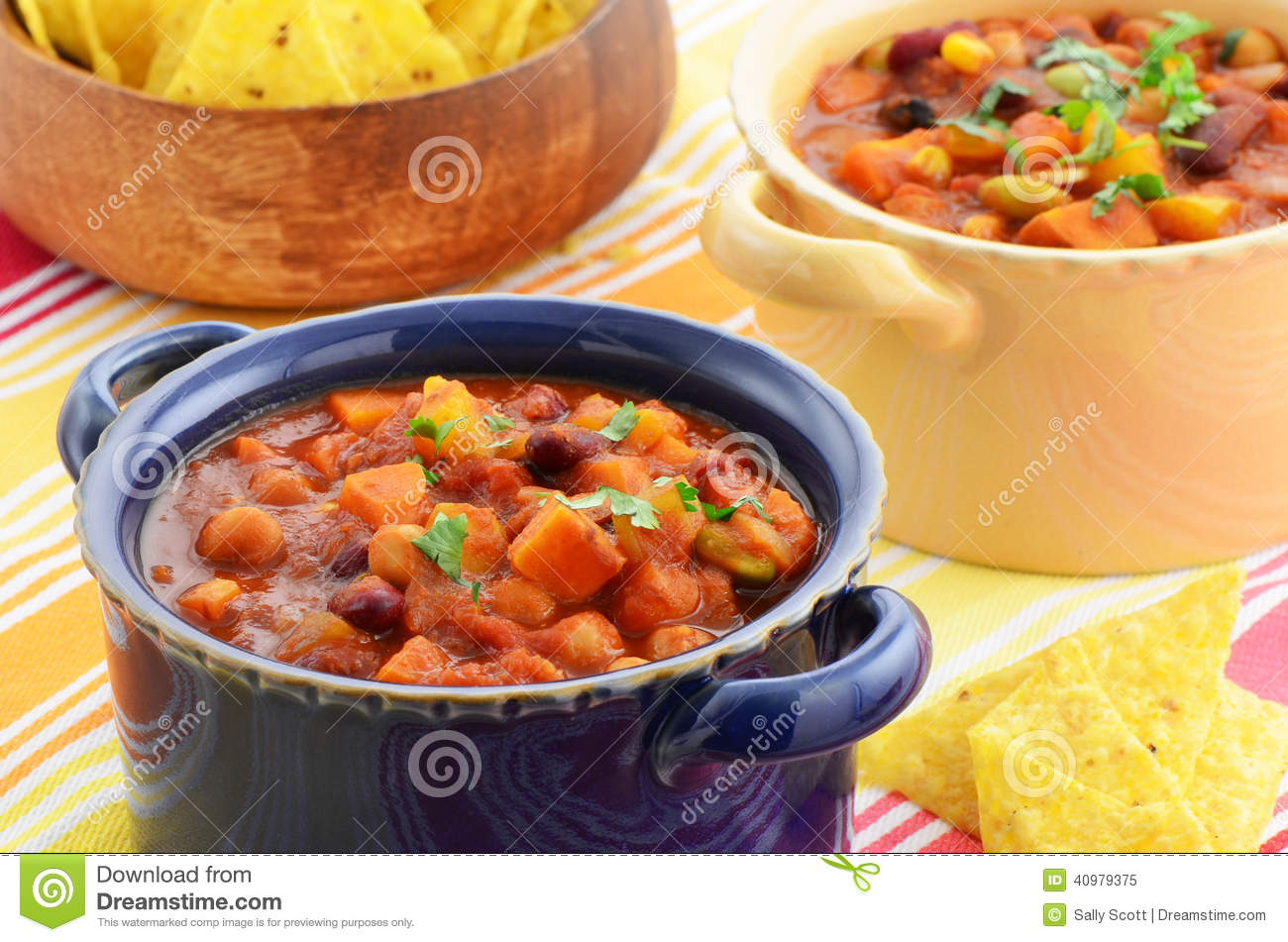Vegetarian Chili Stock Photo - Image: 40979375