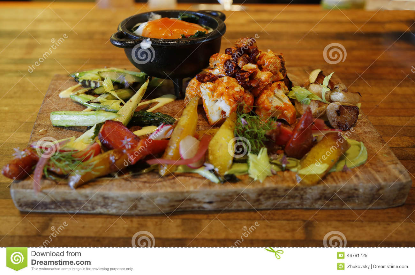 Download Vegetarian dish stock image. Image of board, gourmet - 46791725