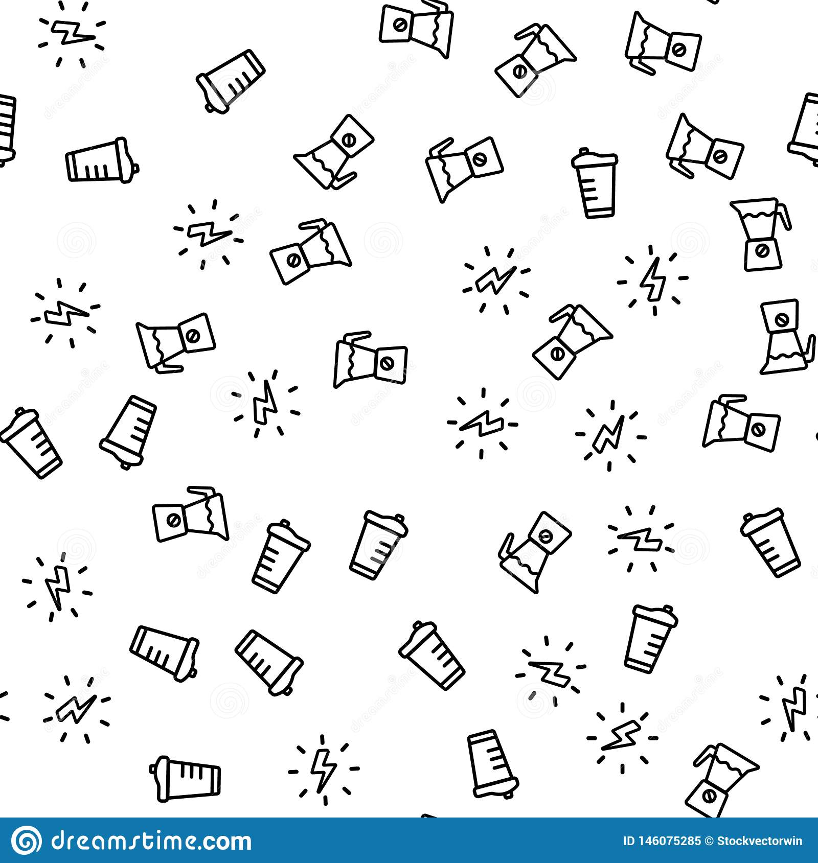 Vegetarian Energetic Drink Seamless Pattern Vector
