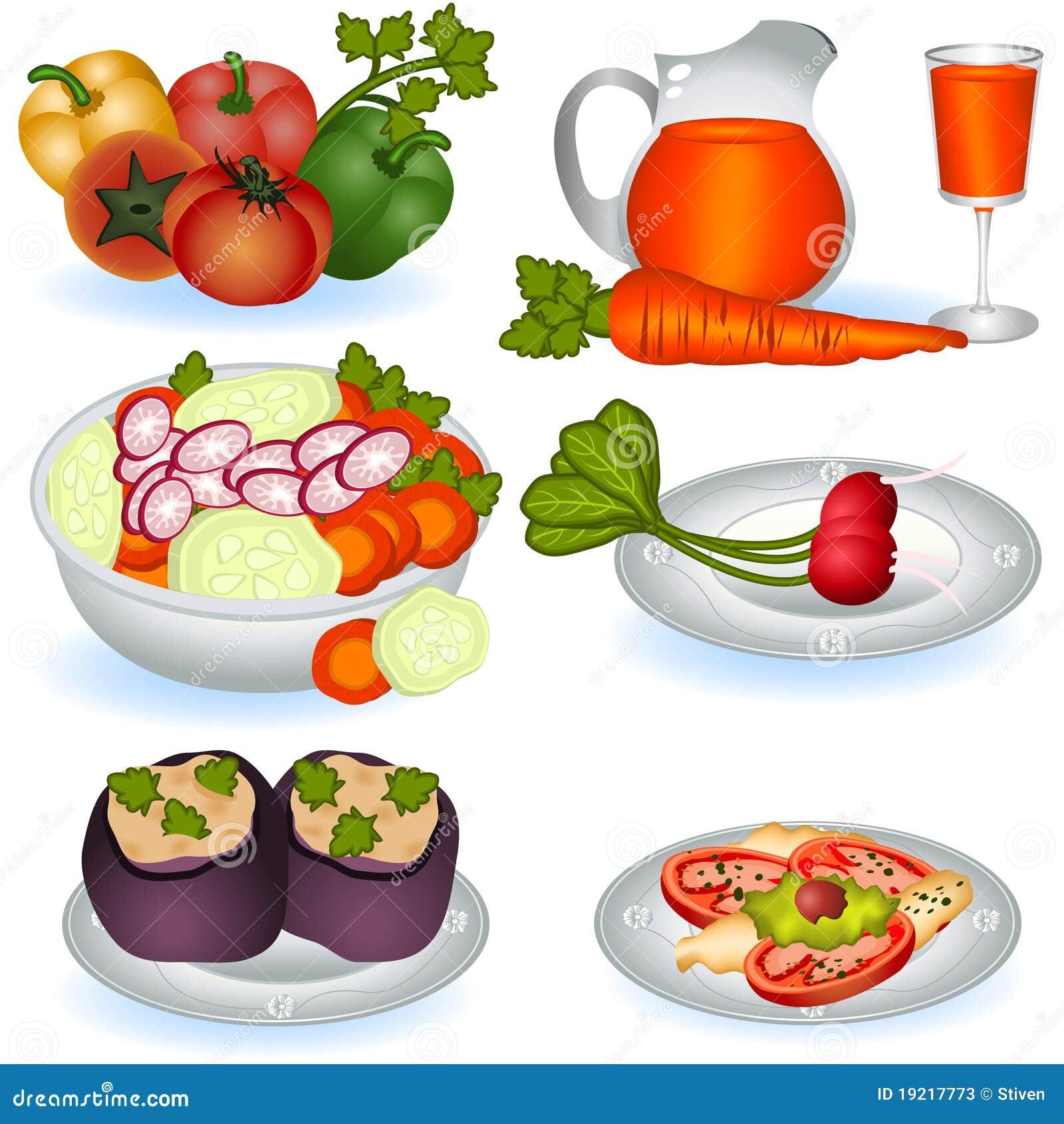 Vegetarian Food 1 Stock Vector Illustration Of Diet