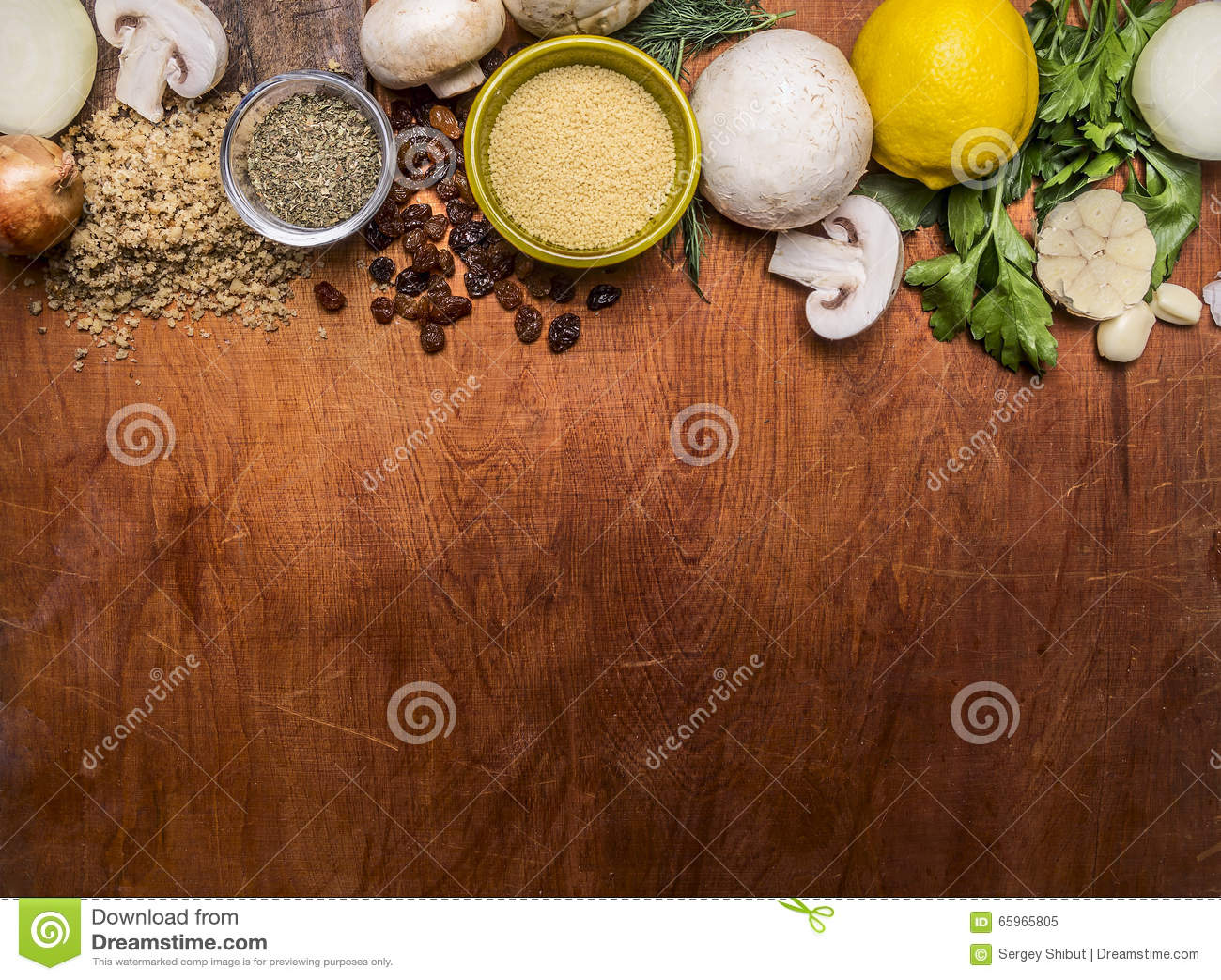 Vegetarian Food Pounded Walnuts, Lemon, Mushrooms ...