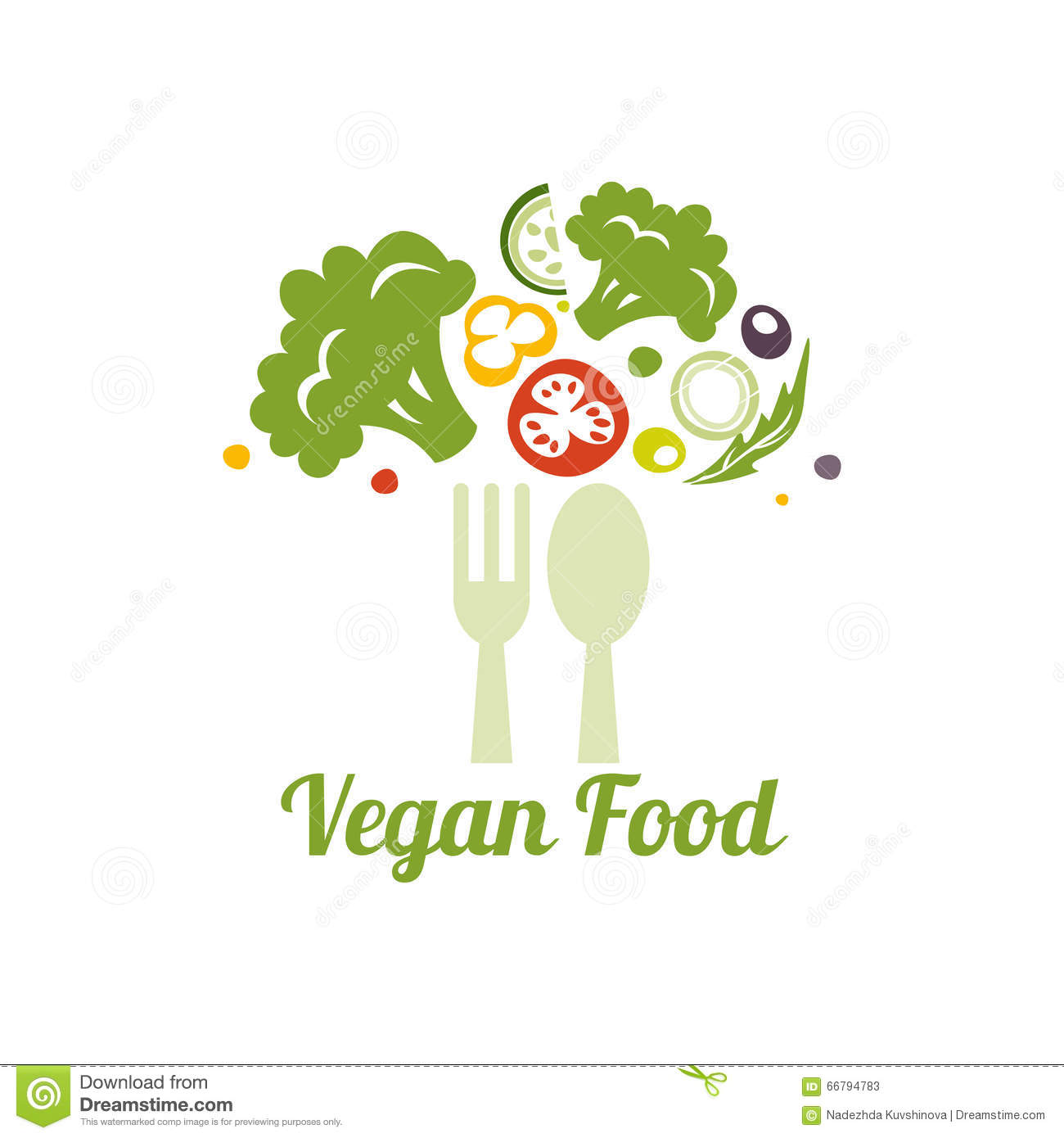 Vegetarian Food Symbol. Creative Logo Design Concept For Healthy Food. Stock ...