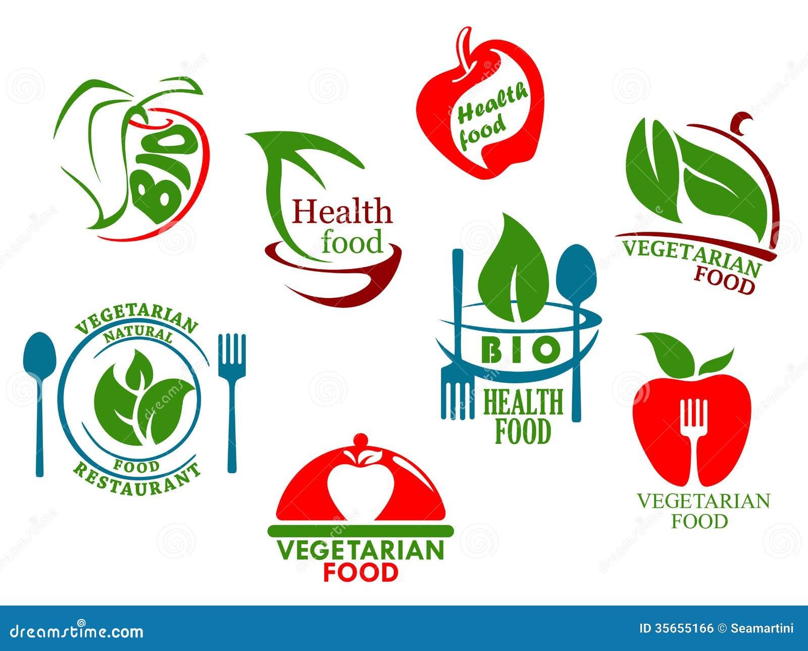 Vegetarian Food Symbols Stock Vector Illustration Of Meal 35655166