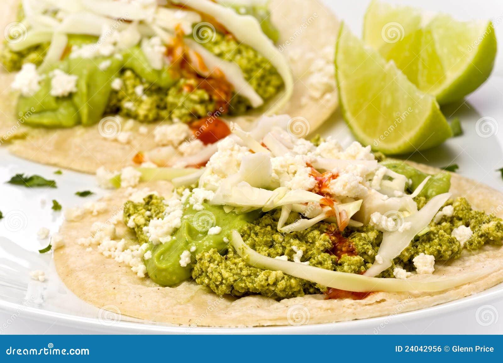 Vegetarian Green Chorizo Tacos Royalty Free Stock Image - Image ...