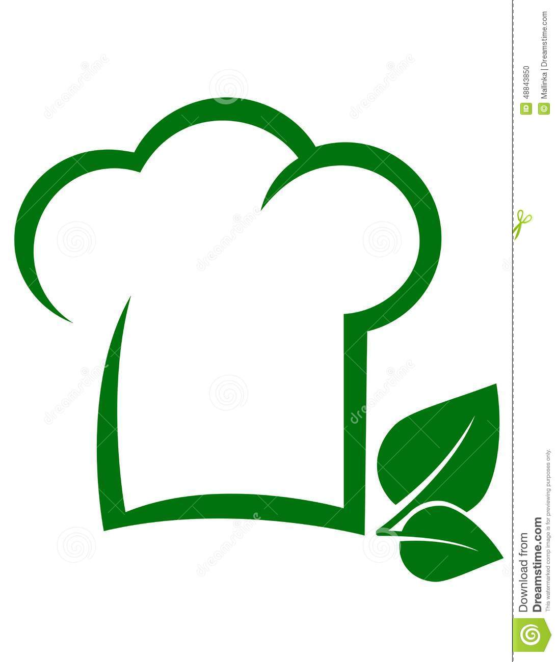 Vegetarian Icon With Chef Hat Stock Vector Image 48843850
