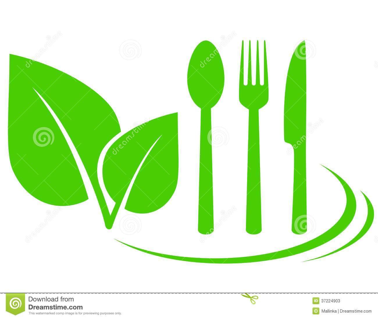 Kitchen Knife Design Vegetarian Icon With Leaves Stock Photos Image 37224903