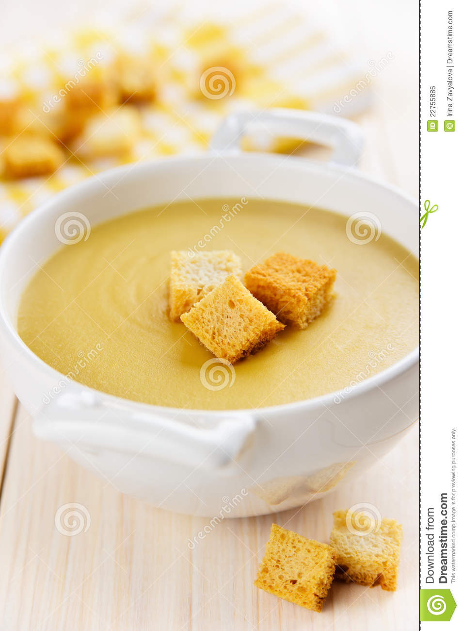 Vegetarian Lentil Cream Soup Royalty Free Stock Image ...