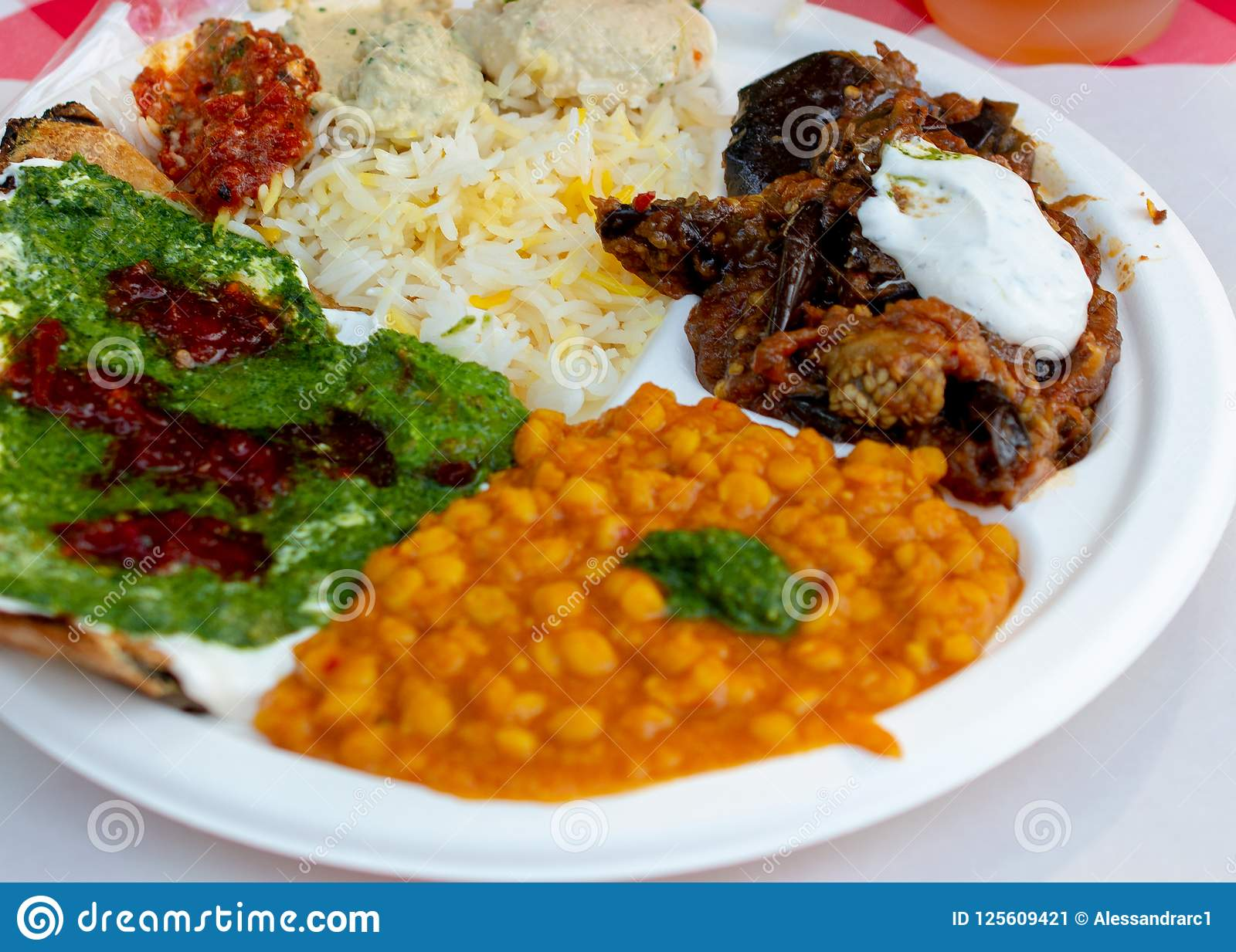 Vegetarian Mediterranean Dish On White Dish Stock Image Image Of Angle Ready 125609421