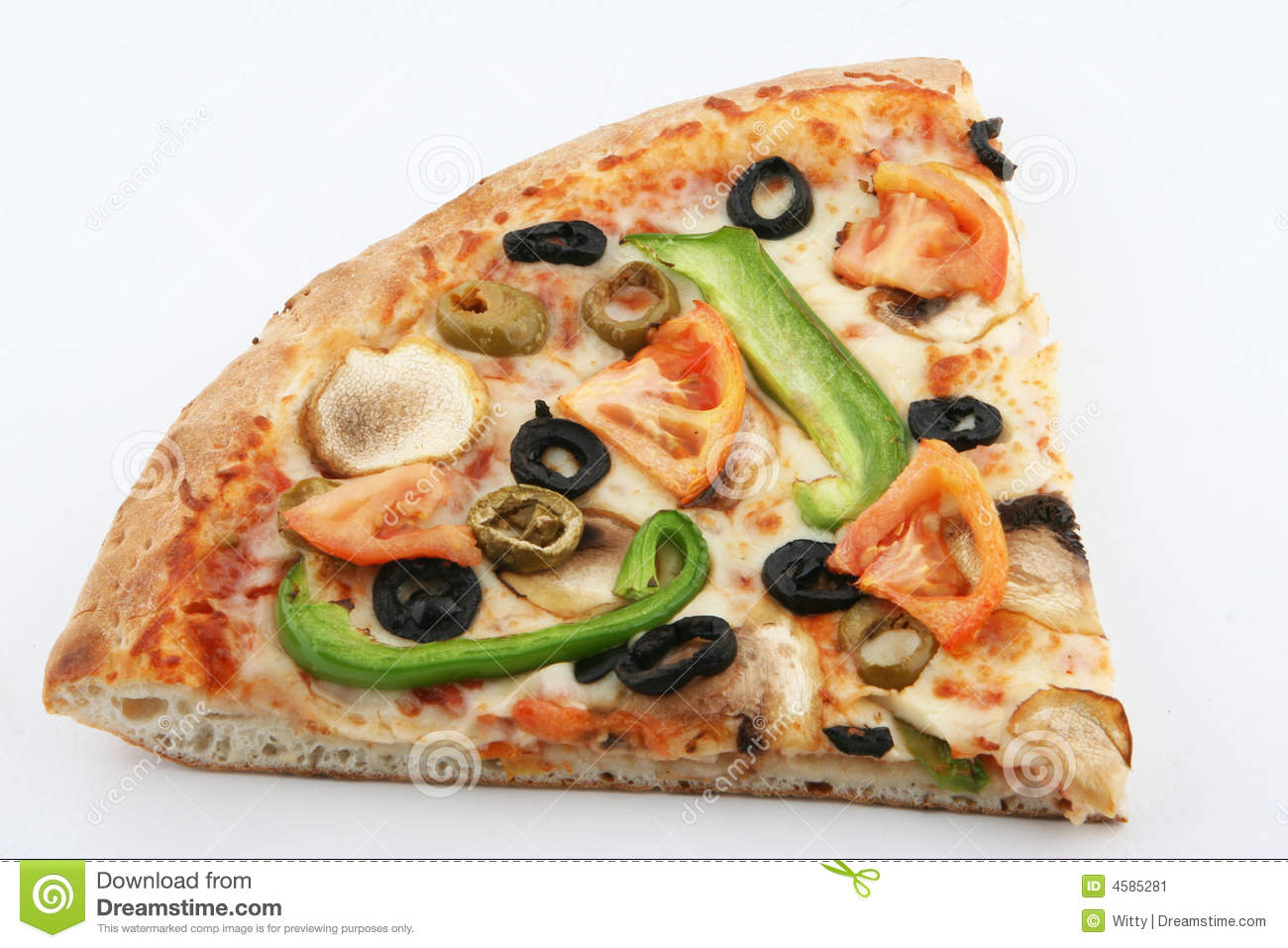 Vegetarian Pizza Slice Stock Image - Image: 4585281