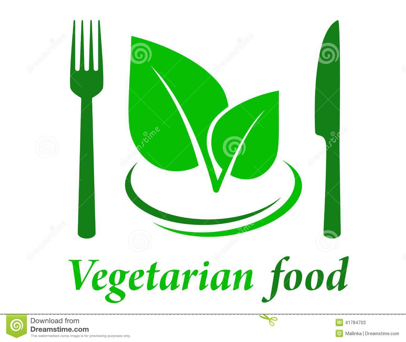 Vegetarian restaurant icon with fork knife and green leaf.