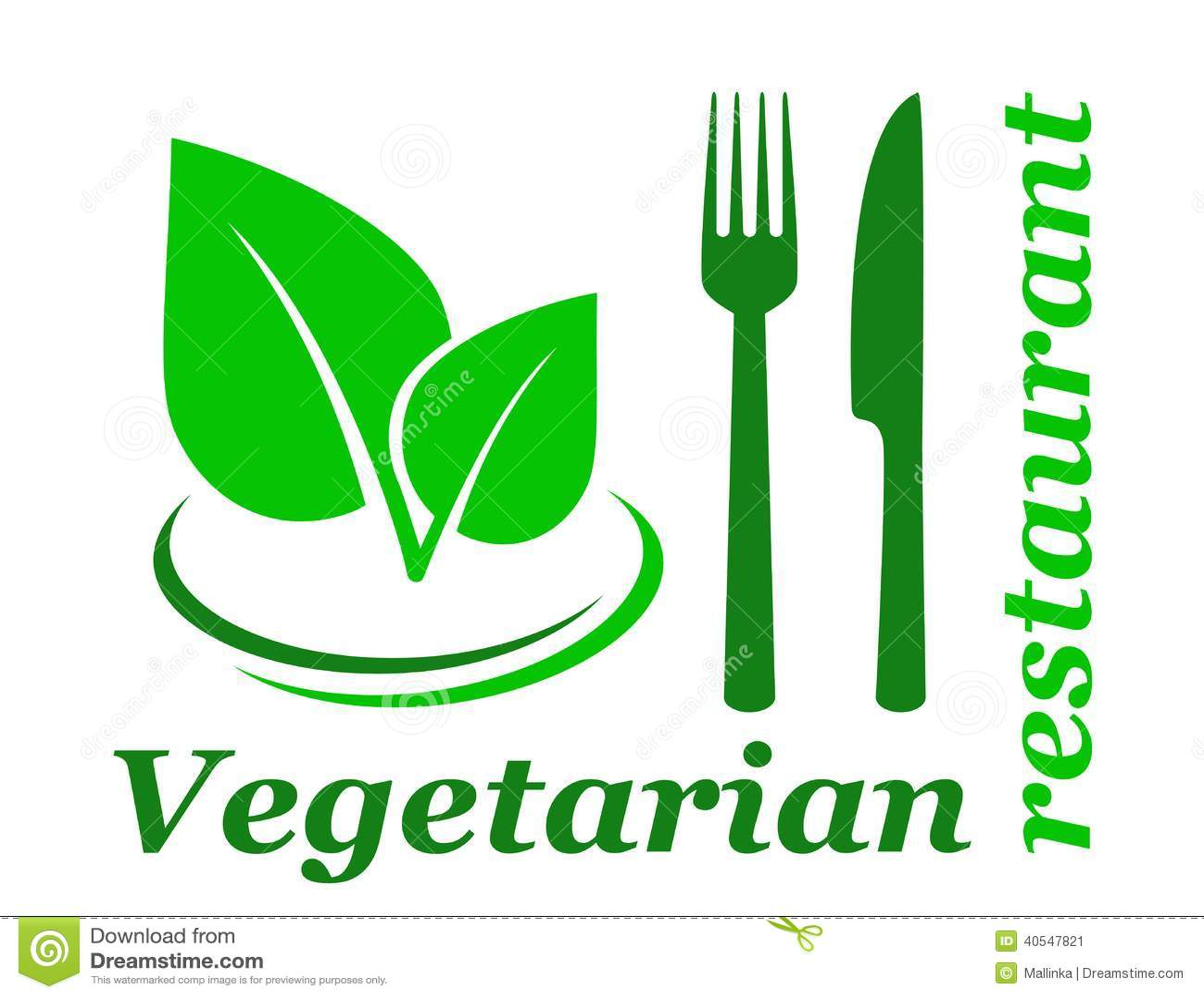 Vegetarian restaurant sign stock vector image 40547821 - Green vegetarian cuisine ...