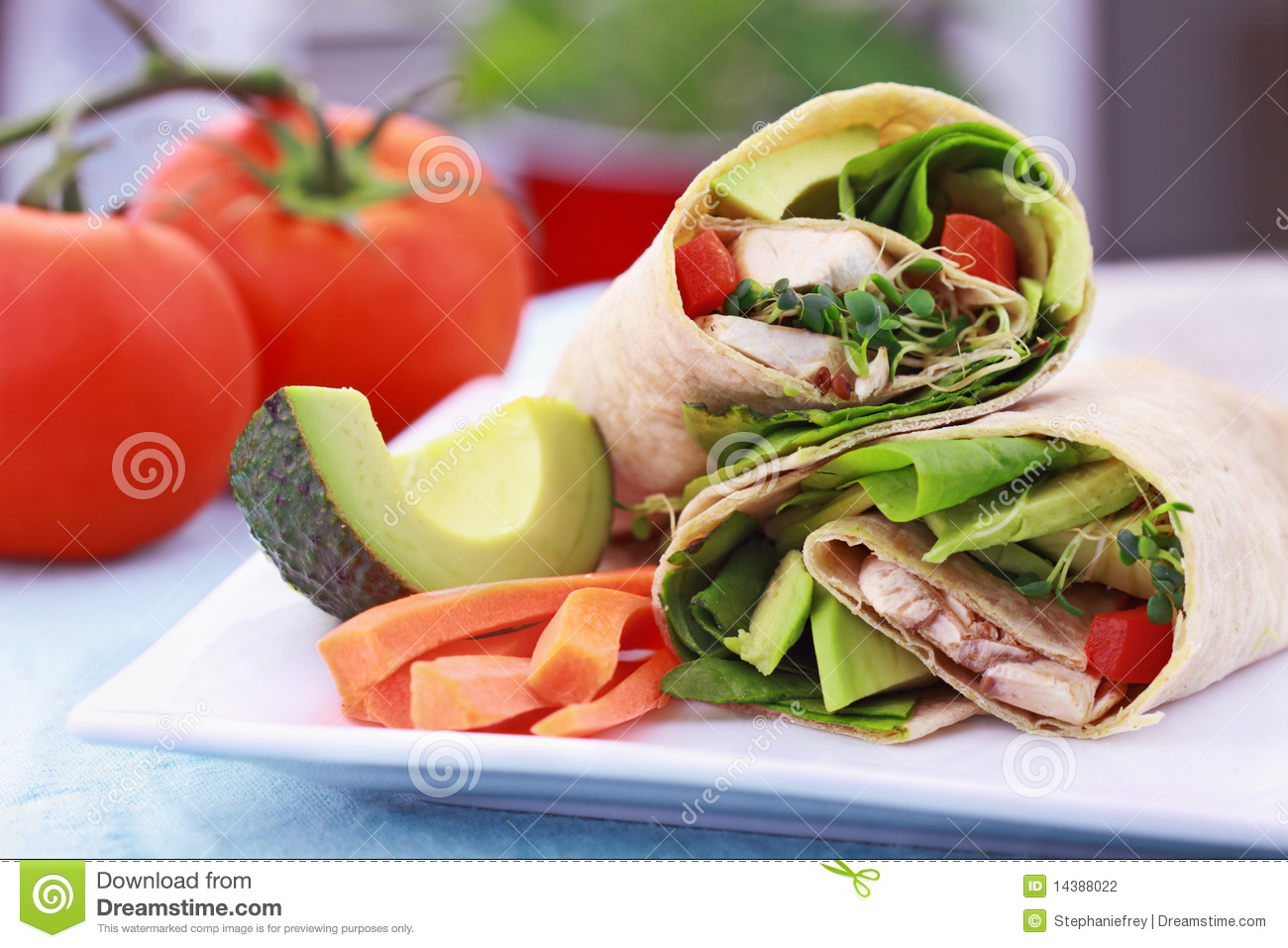 Vegetarian Sandwich Wrap Stock Photo Image Of Picture