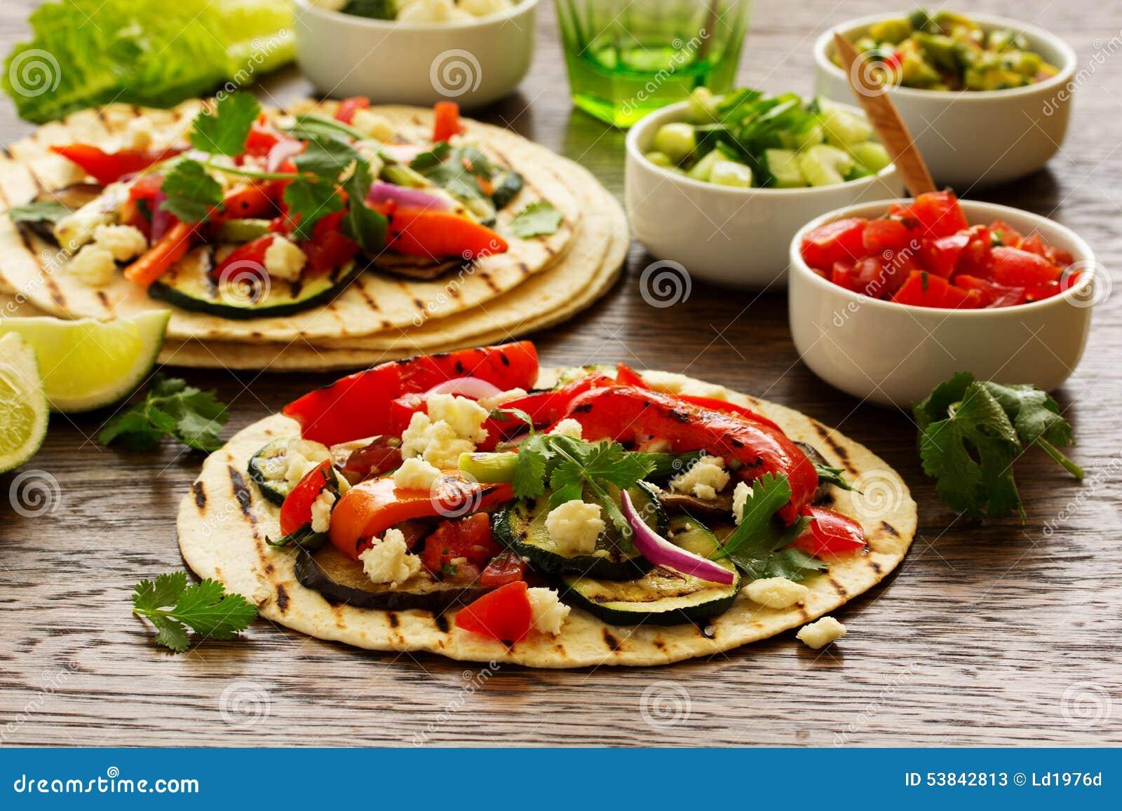 Vegetarian snack tacos