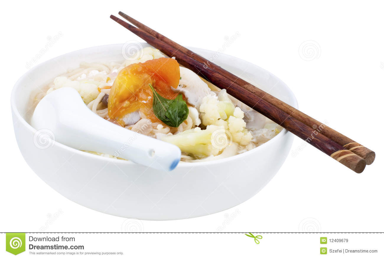 Vegetarian soup noodles stock image. Image of chinese ...
