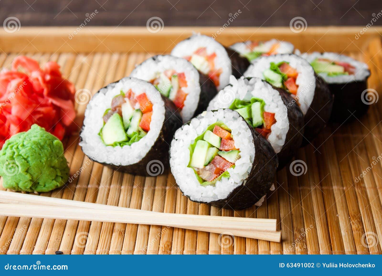 Запеченные суши в домашних условиях фото