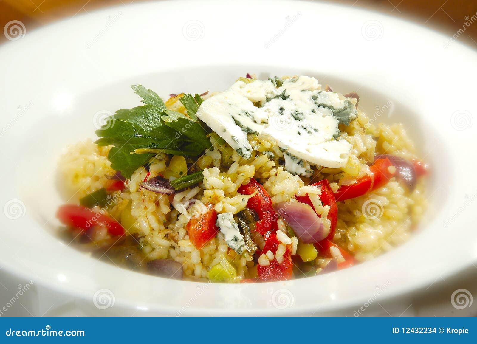 Vegetariana italiano do risotto