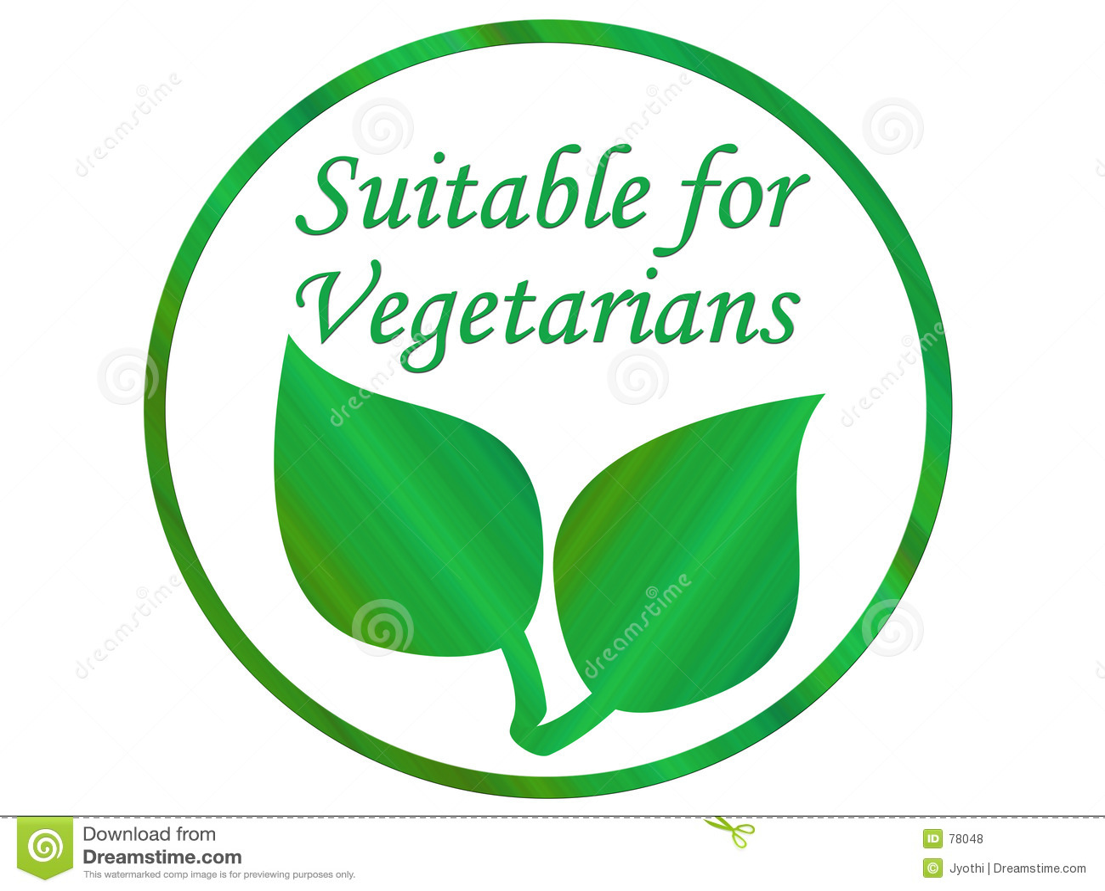 Vegetarisches Blatt