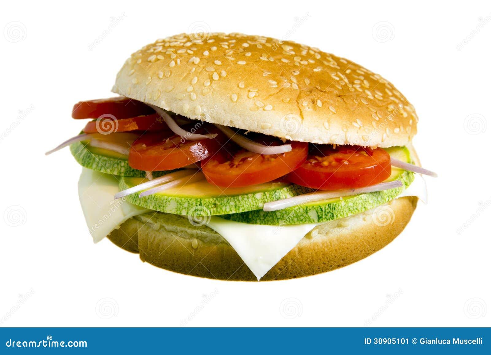 Veggie burger stock image. Image of background, white ...