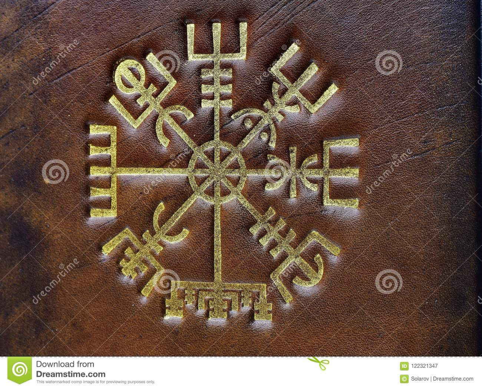 The Vegvisir Ancient Icelandic Magical Symbol Stock Image Image