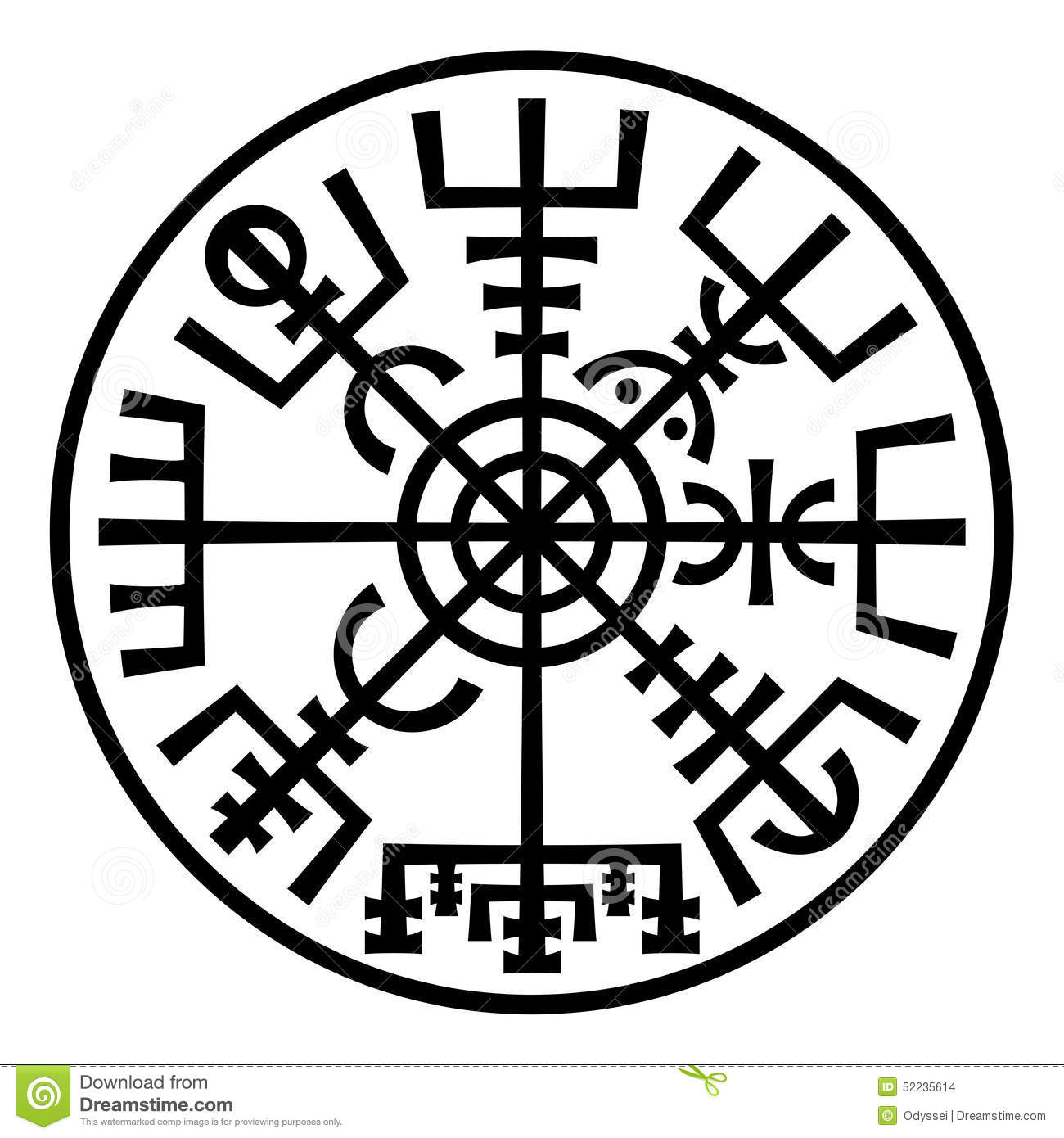 Futhark runes magic symbols vector set stock vector vegvisir the magic compass of vikings runic talisman in the ring buycottarizona Images
