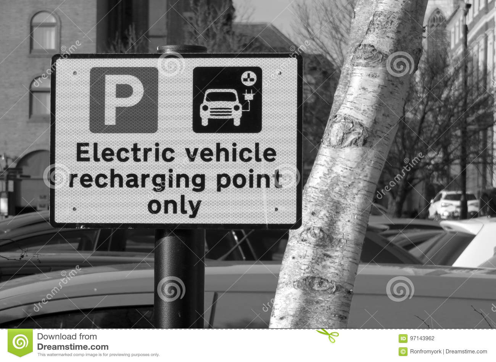 Vehículo eléctrico que recarga la muestra del punto