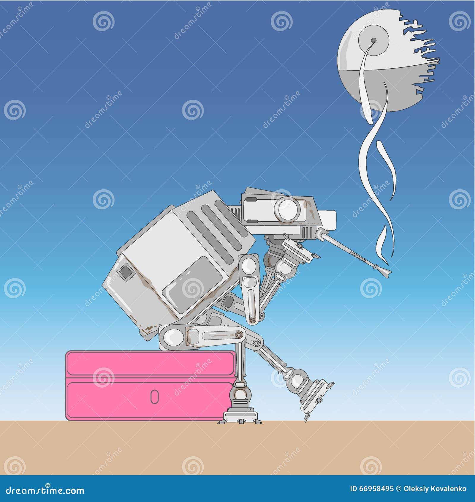 Vehículo inteligente mecanizado armado pesado