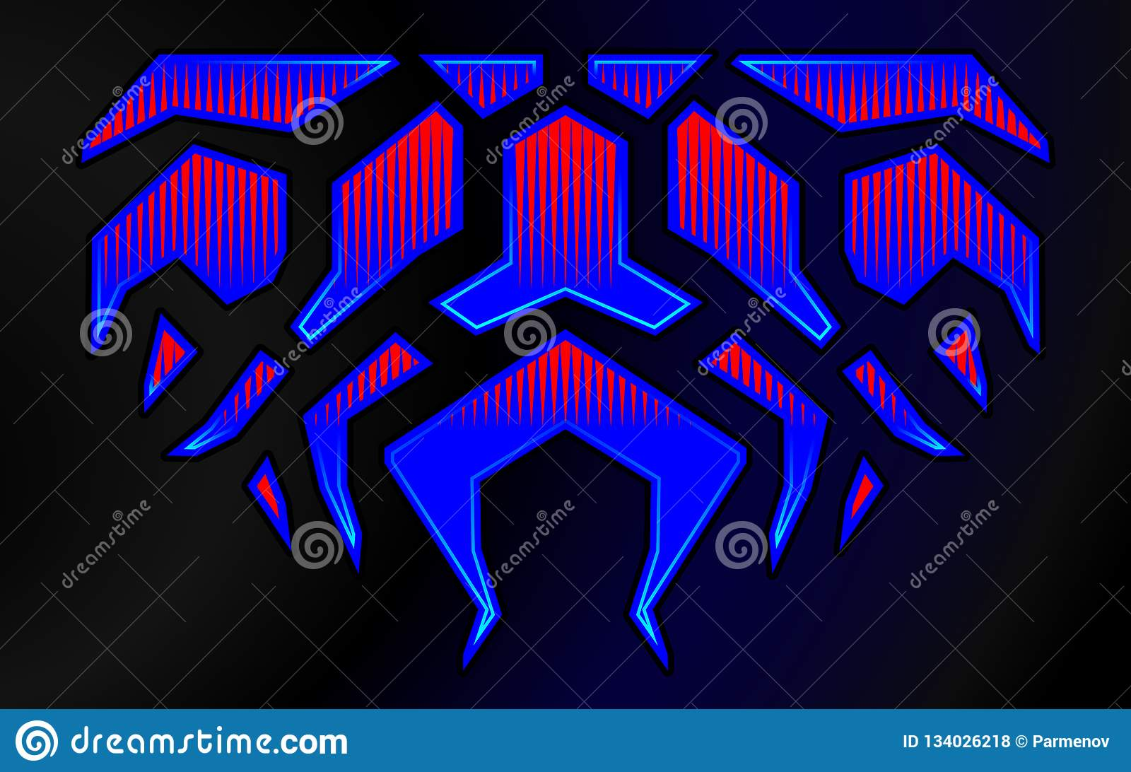 Blazing fire decals for the hood of the car hot rod racing flames vinyl ready tribal flames vehicle and motorbike stickers with burning effect isolated