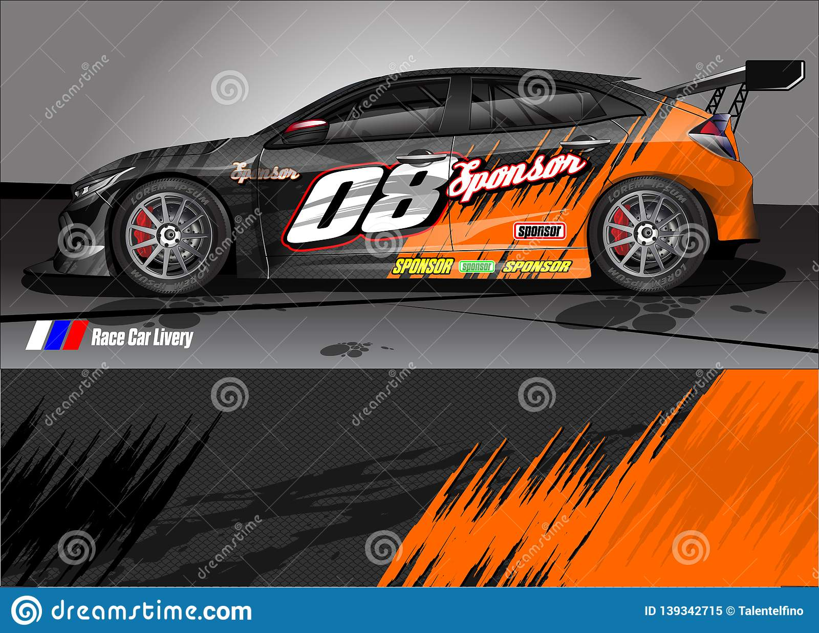 e0ef01c8add Race Car Livery Graphic . Abstract Grunge Background Design For ...