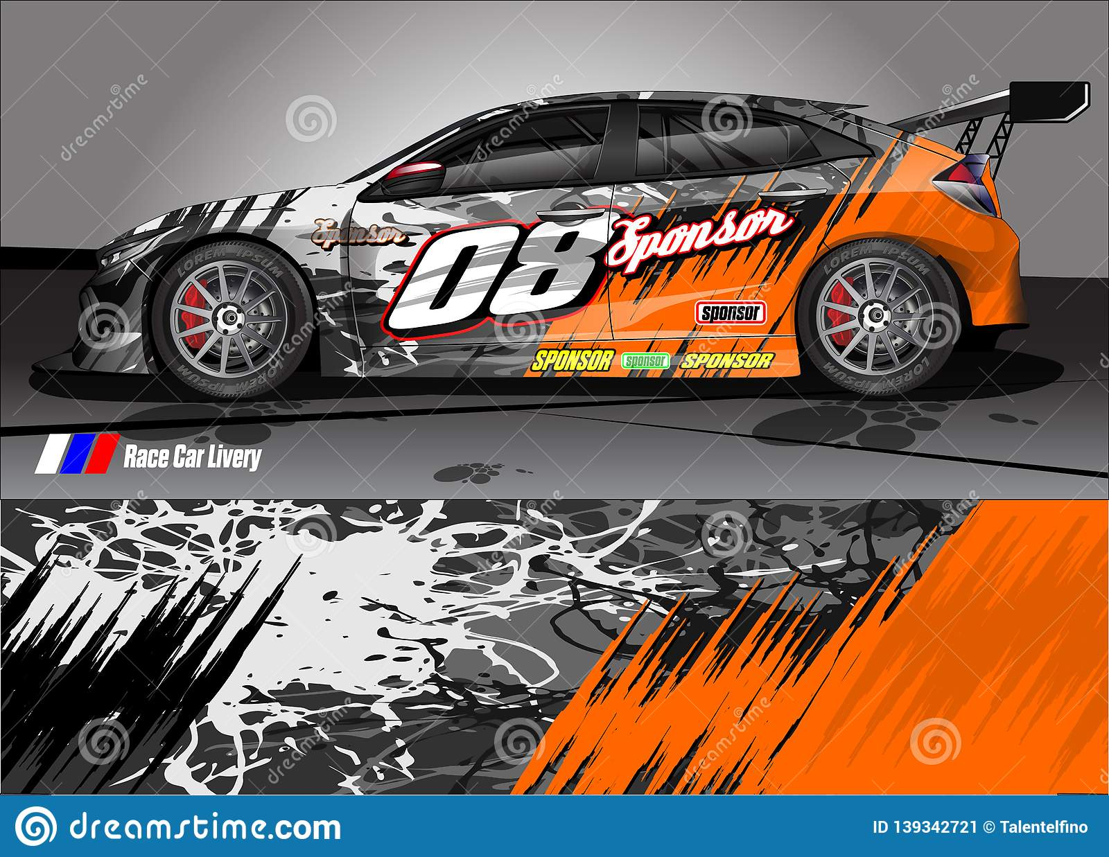 Race Car Livery Graphic Abstract Grunge Background Design For Vehicle Vinyl Wrap And Car Branding Stock Illustration Illustration Of Graphics Grunge 139342721
