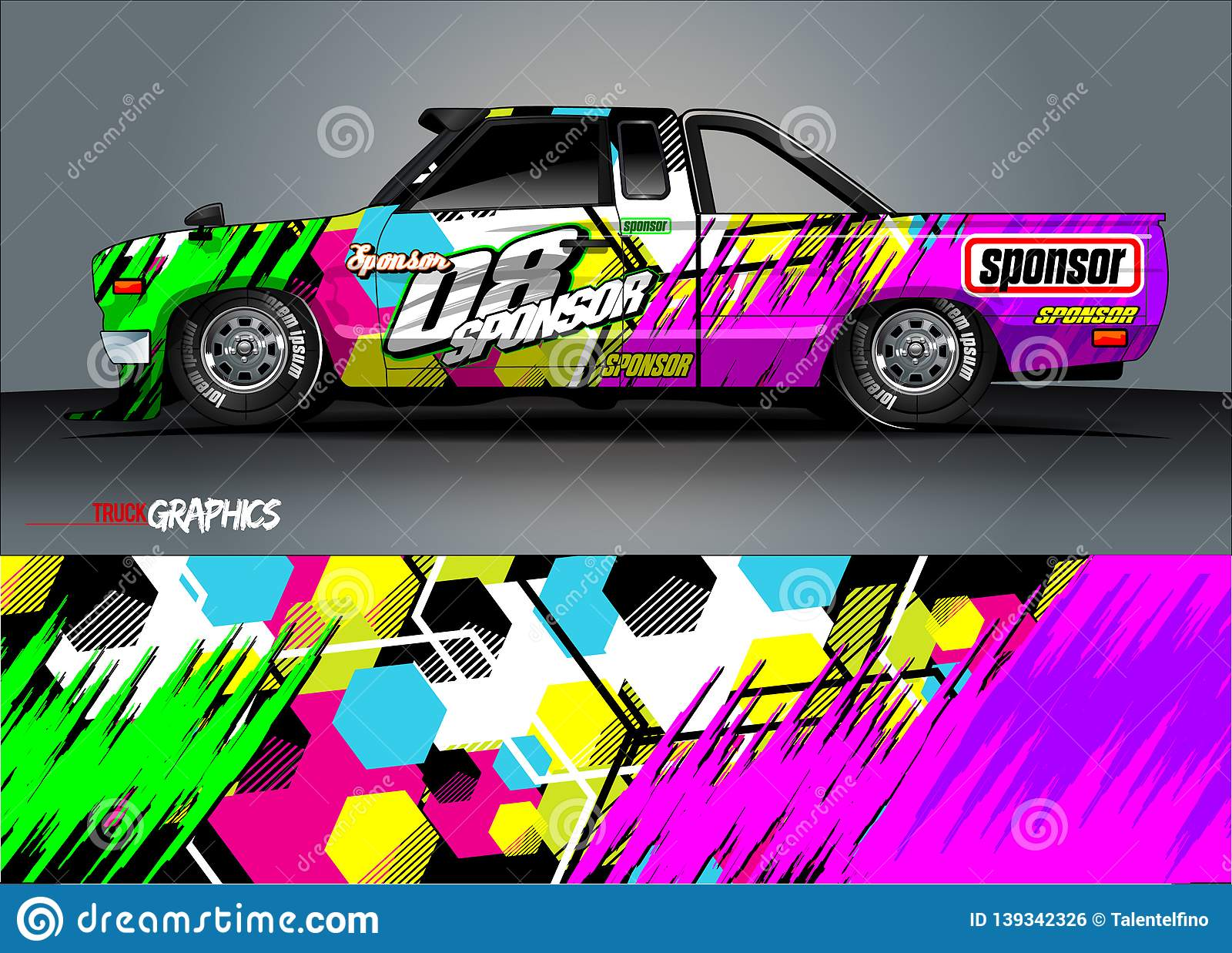 d0dfbd7447 Vehicle livery graphic . abstract grunge background design for vehicle  vinyl wrap and car branding