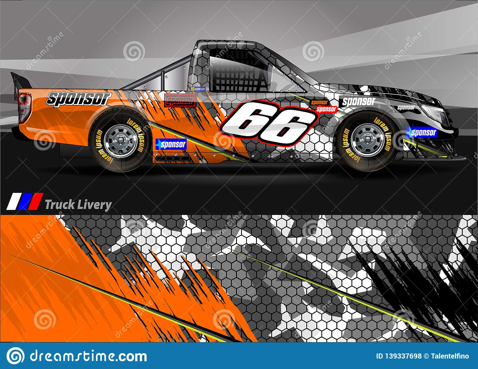 Race Truck Livery Graphic Vector Abstract Grunge Background Design For Vehicle Vinyl Wrap And Car Branding Stock Vector Illustration Of Identity Signboard 139337698