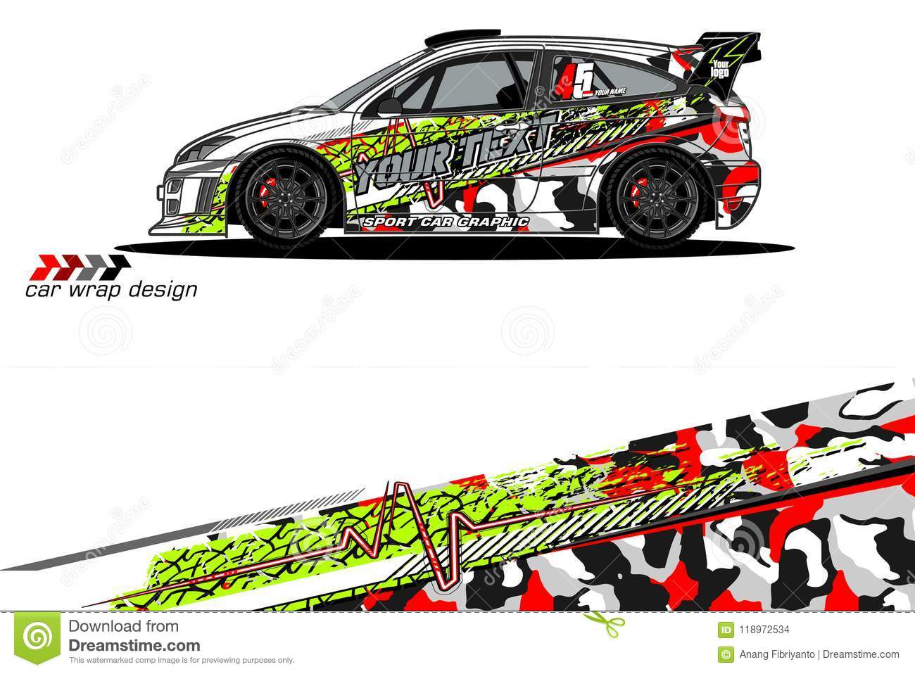 Vehicle livery graphic vector abstract grunge background design for vehicle vinyl wrap and car branding