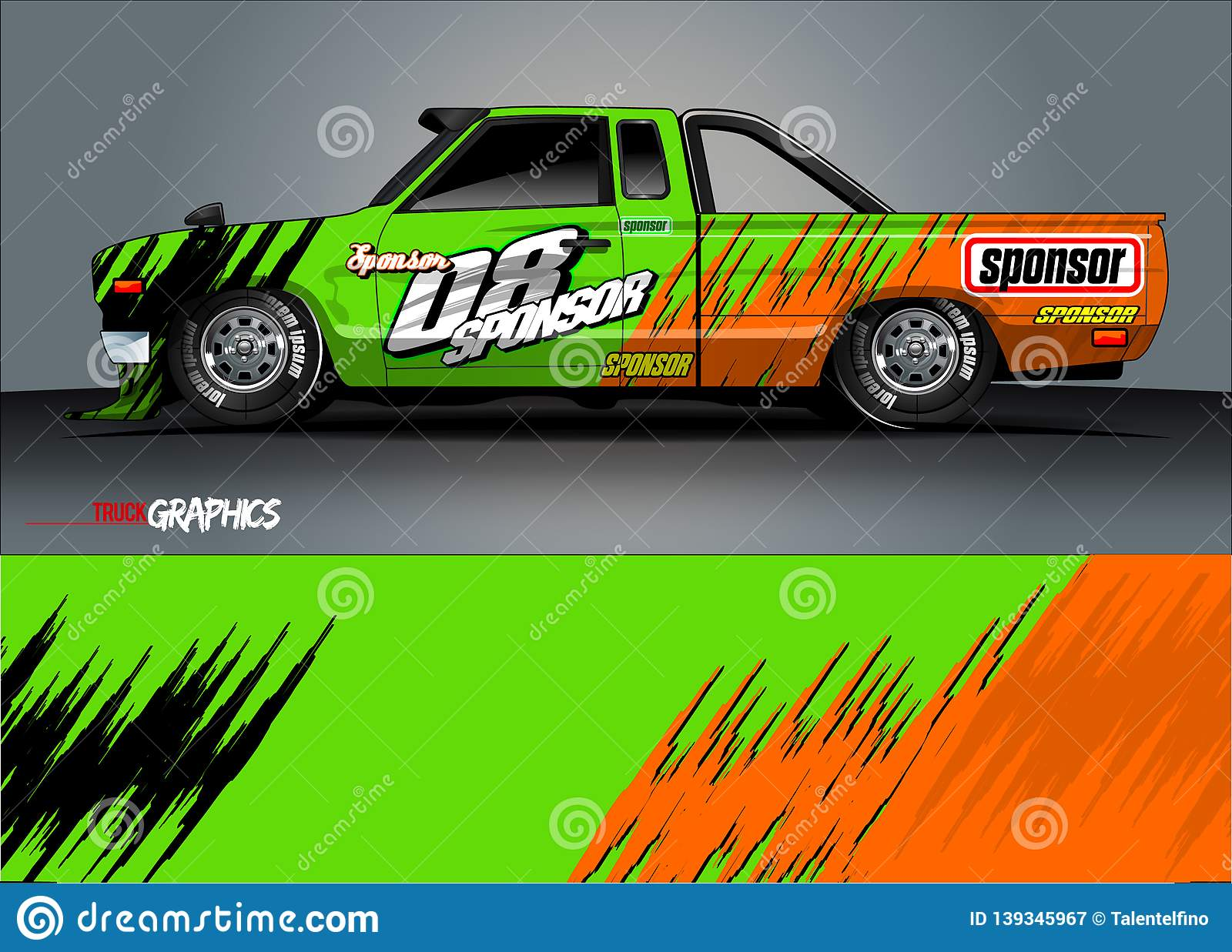 Pickup Truck Livery Graphic Vector Abstract Grunge Background Design For Vehicle Vinyl Wrap And Car Branding Stock Illustration Illustration Of Modern Grunge 139345967