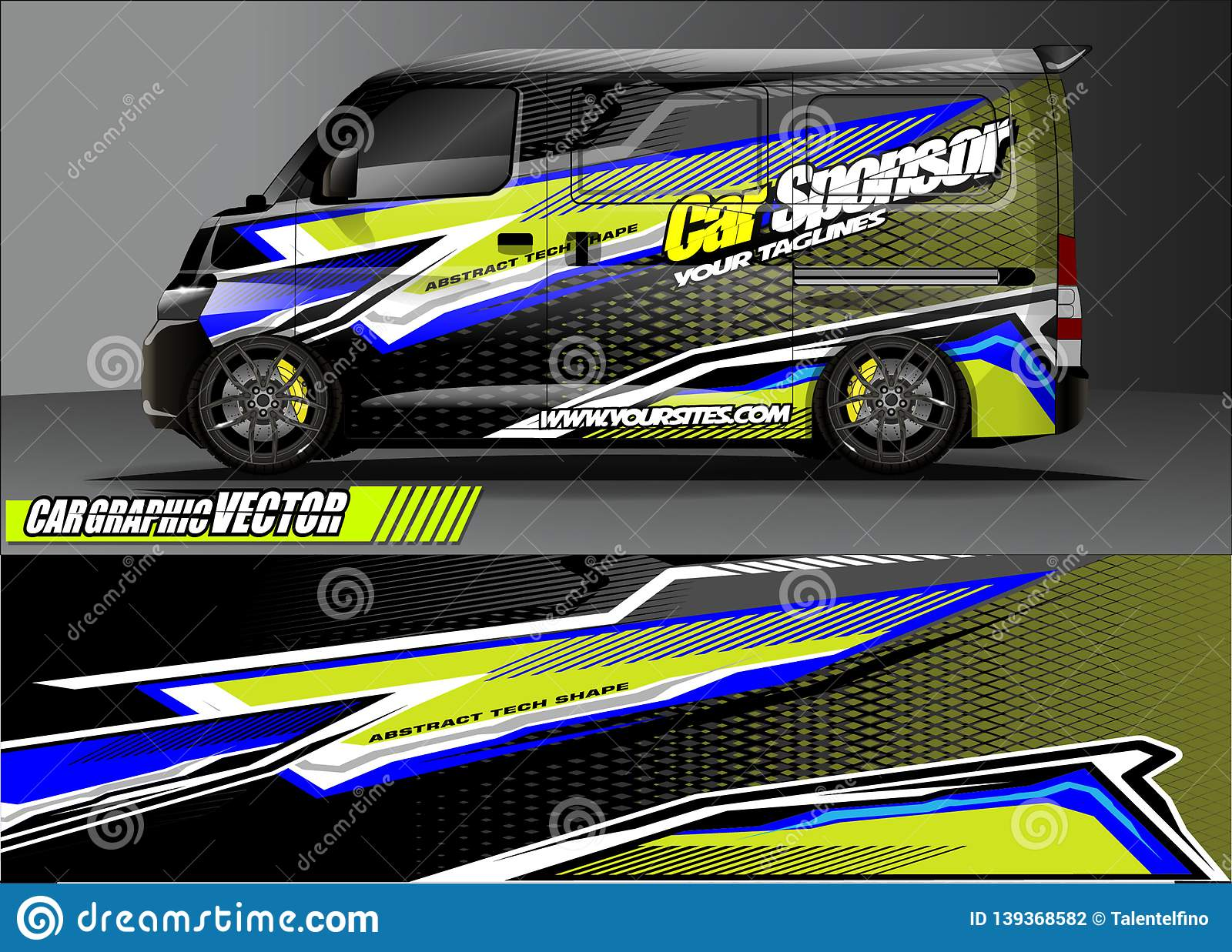 f593bbdafe Van livery graphic vector. abstract grunge background design for vehicle  vinyl wrap and car branding