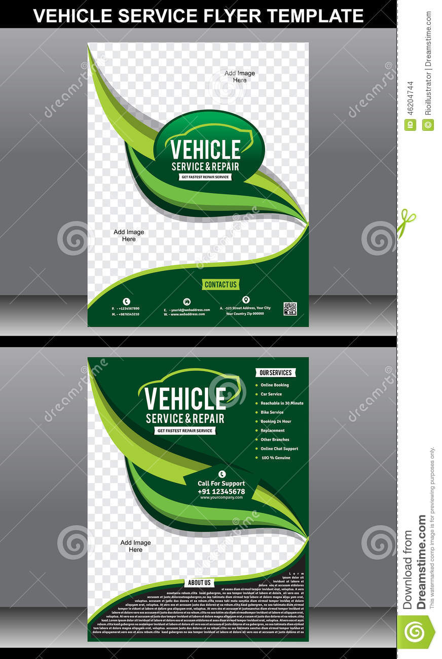 vehicle service flyer template stock vector image 46204744 vehicle service flyer template