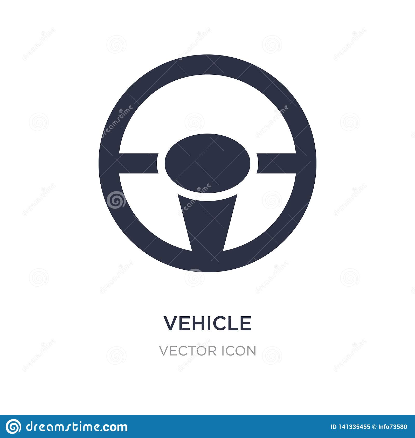vehicle steering wheel icon on white background. Simple element illustration from Transport concept