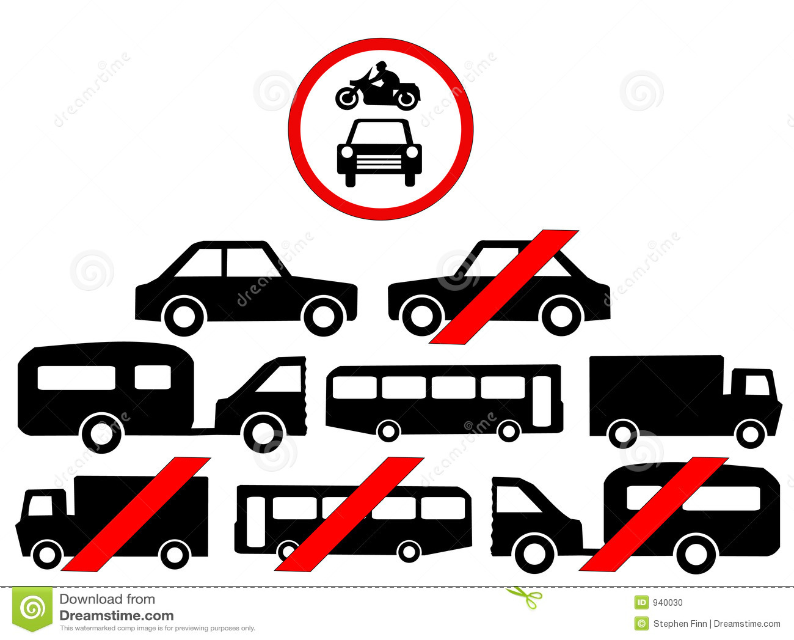Vehicle Symbols Stock Vector Illustration Of Cycle Motor 940030