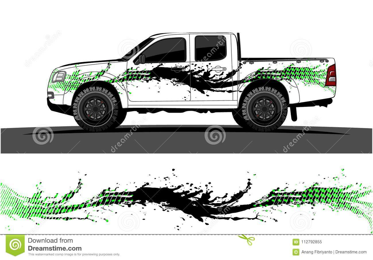Vehicle and truck graphic vector racing background for vinyl wrap and decal vector