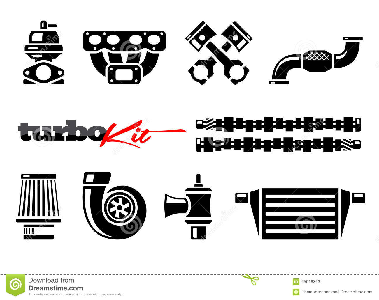 Set of car parts icons stock vector. Illustration of function ...
