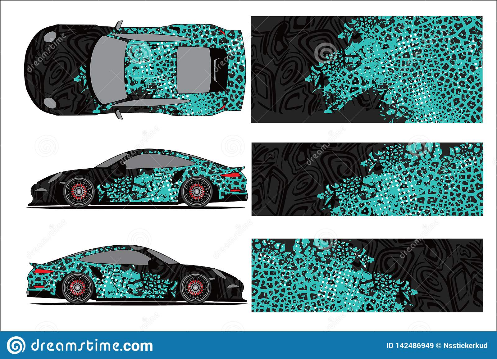 Car Graphic Vector Abstract Racing Shape With Modern Race Design For