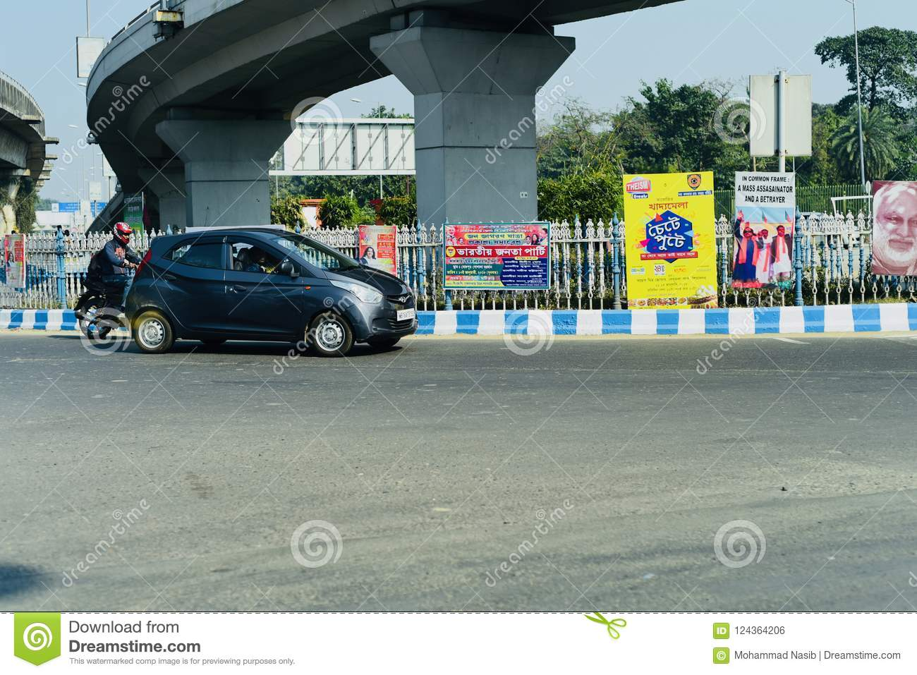 Download Vehicles Running In The City Streets Of Kolkata India Editorial Photo - Image of streets, white: 124364206