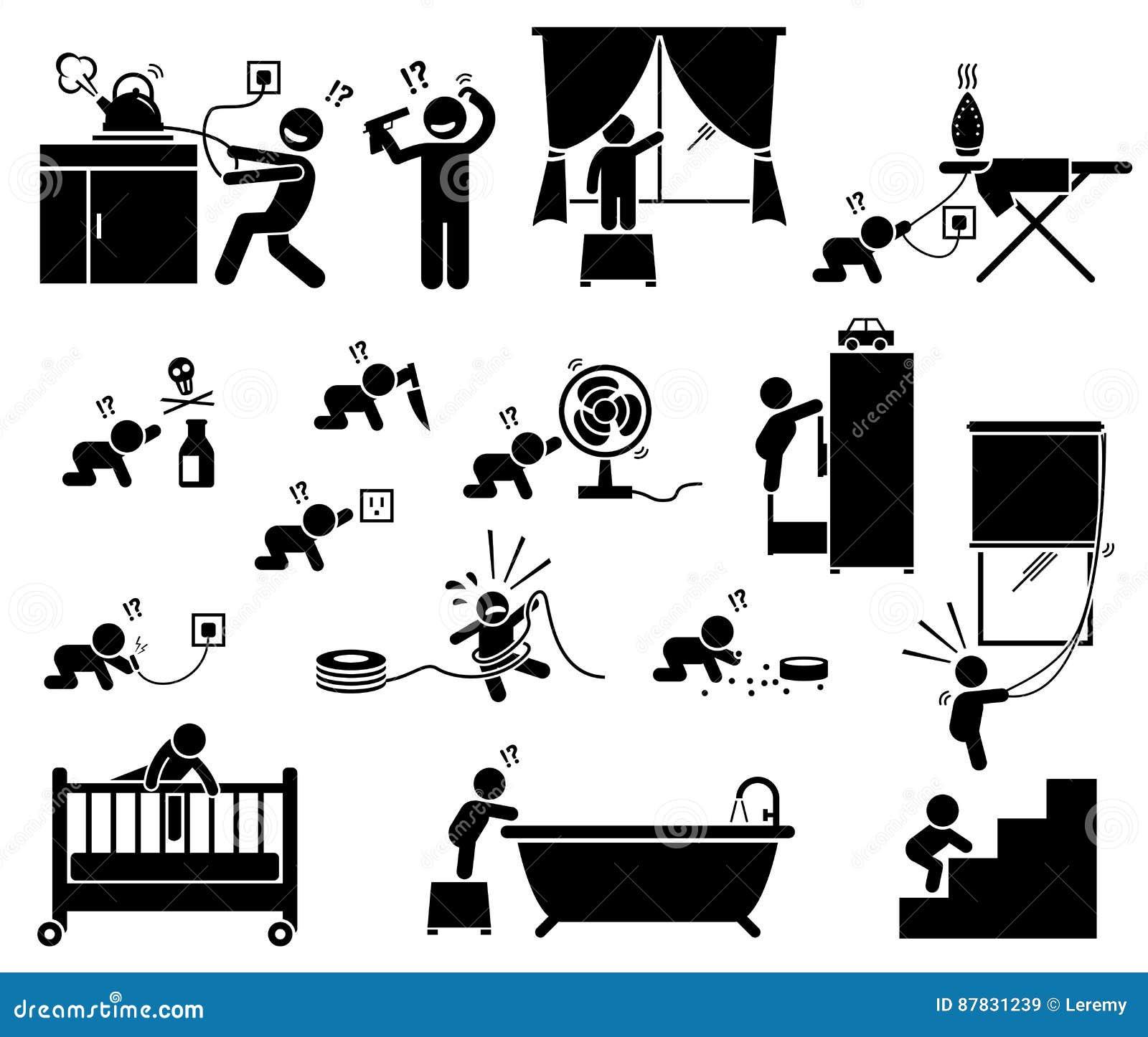 Veiligheidsgevaar thuis voor kinderen