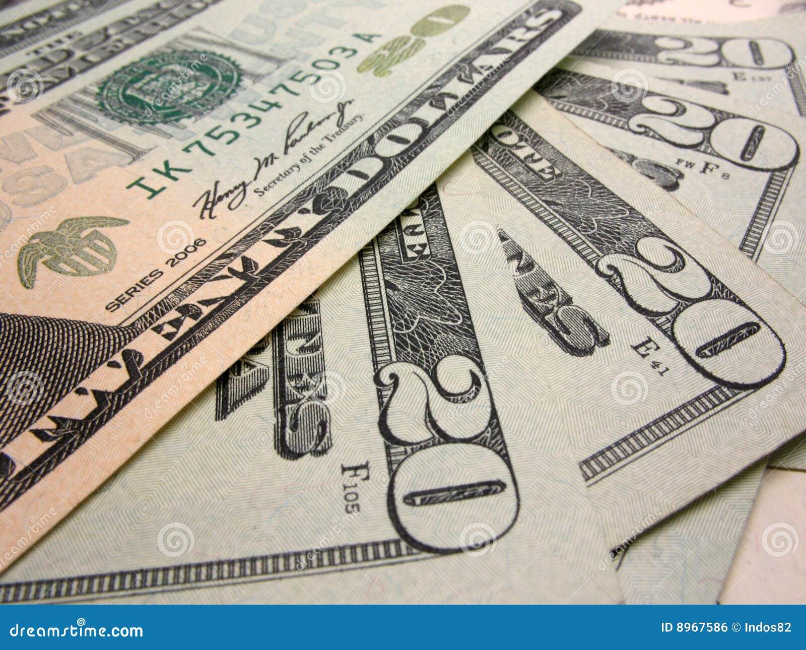 Veinte cuentas de dólar