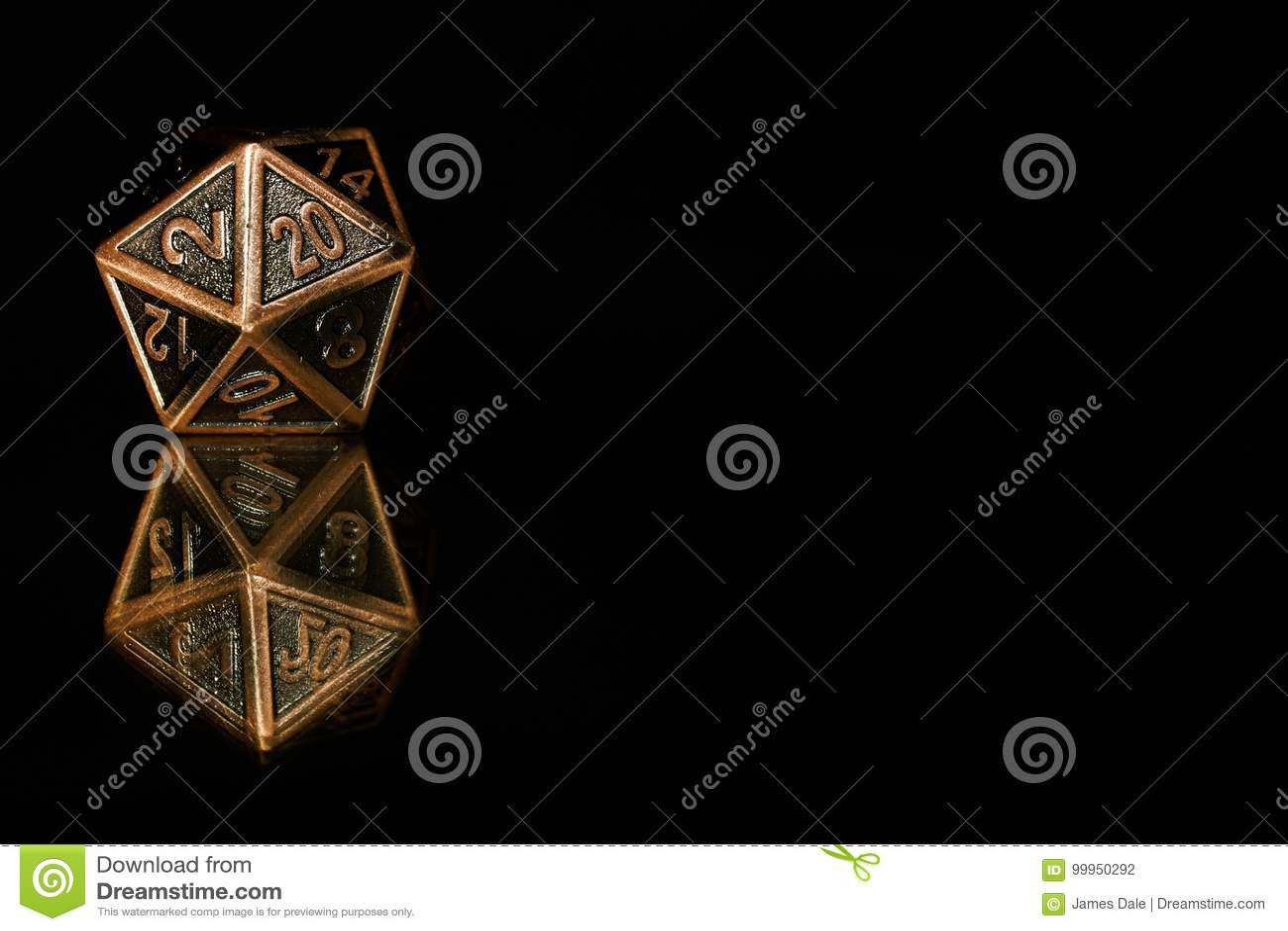 Veinte Polihedricos Echados A Un Lado Mueren Utilizado Para El Papel