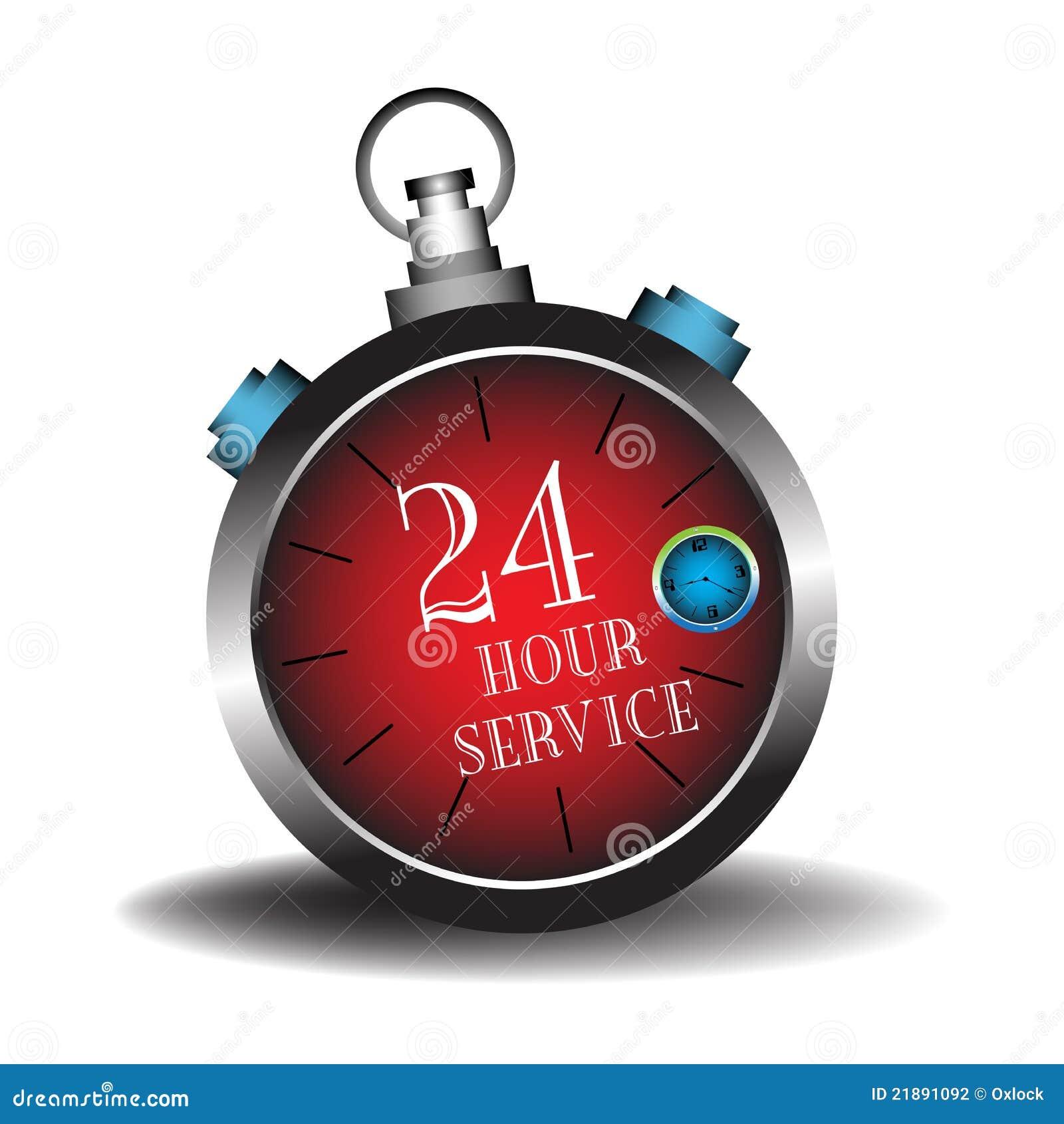 Veinticuatro servicios de la hora