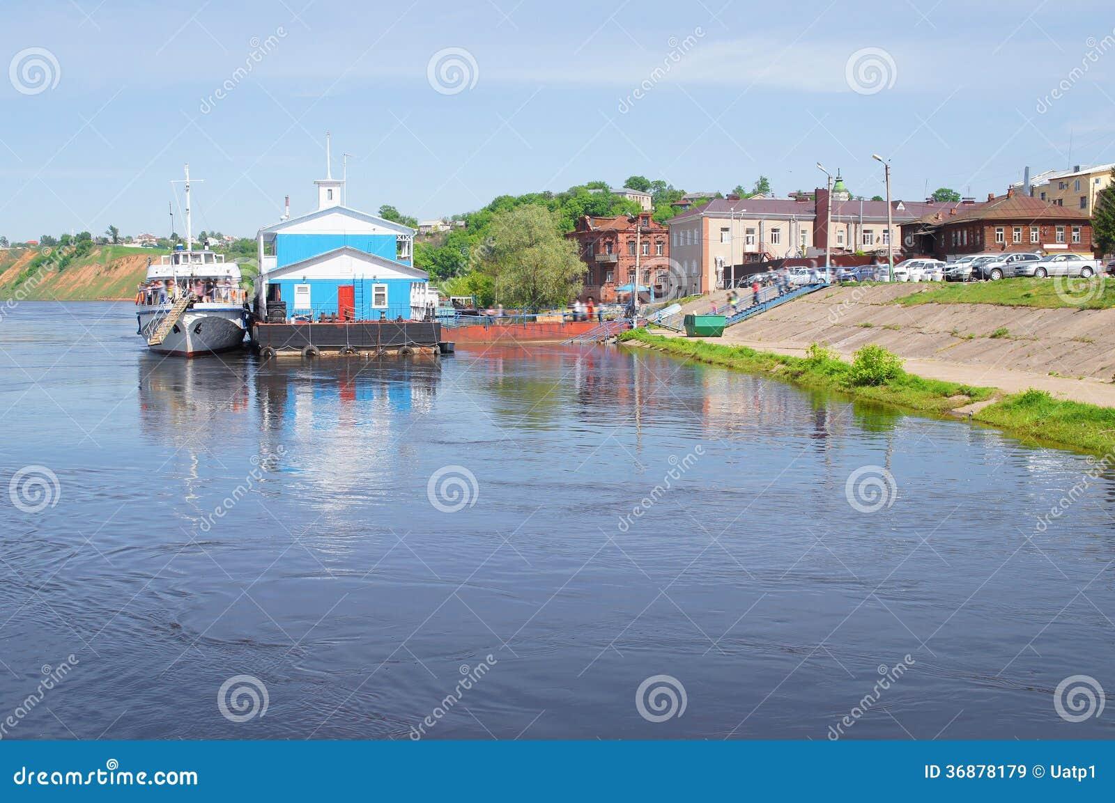 Download Veiw al fiume di Oka immagine stock. Immagine di alto - 36878179