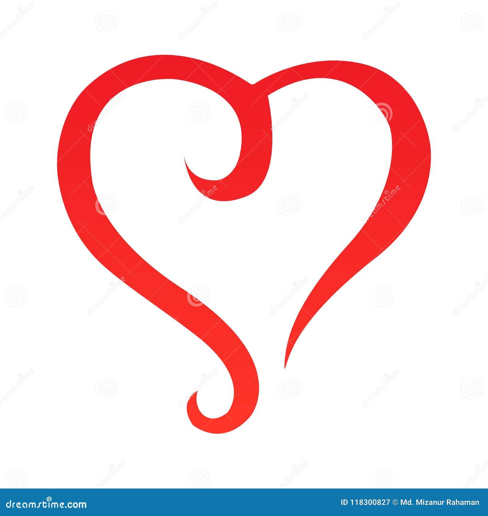 Vektor - abstrakt hjärtaformöversikt unik design